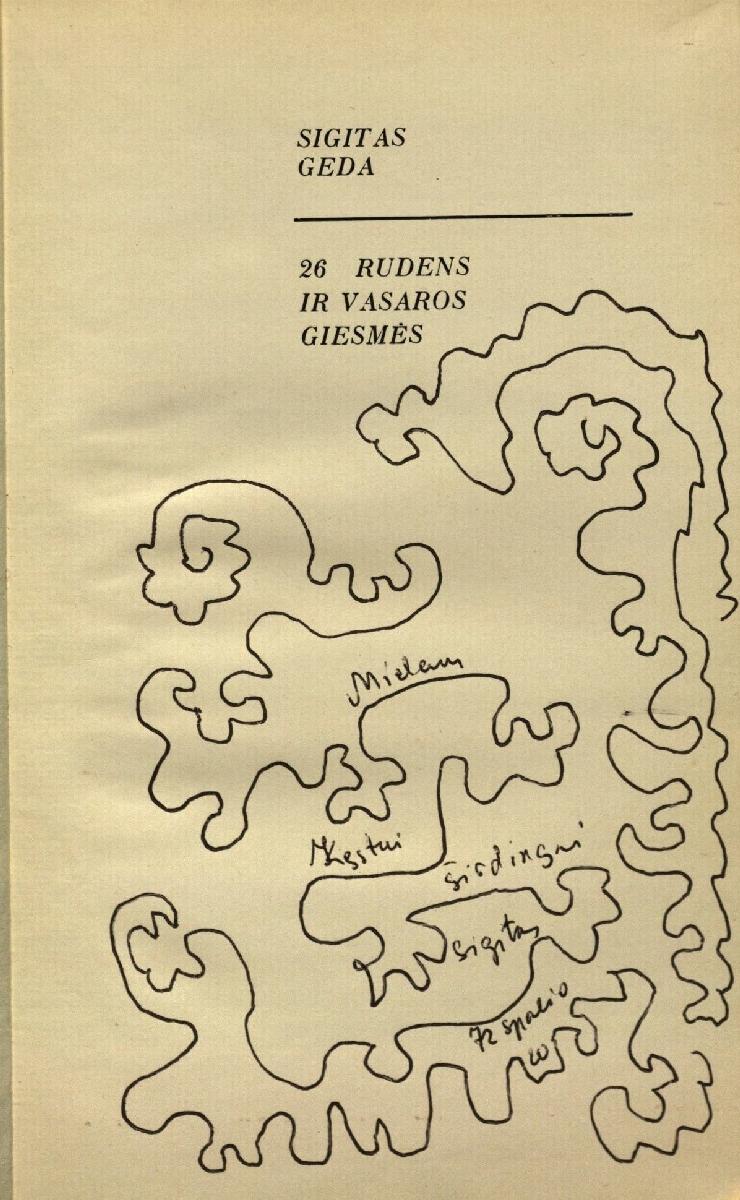 S. Gedos dedikacija, 1972
