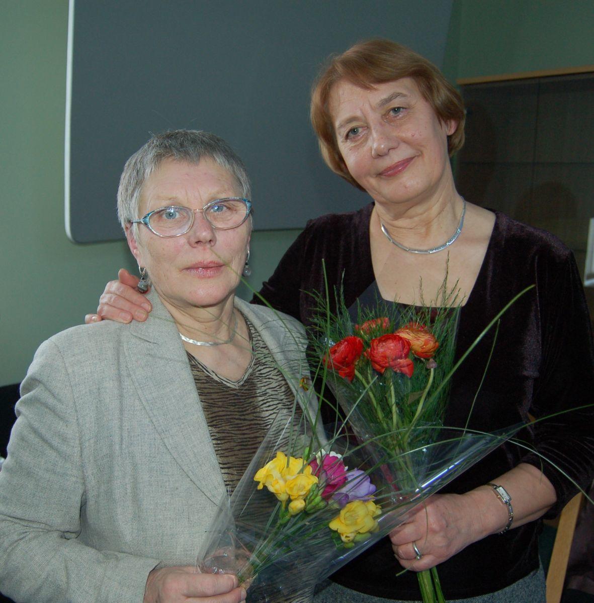Alma Karosaitė ir Aldona Augustaitienė. 2010