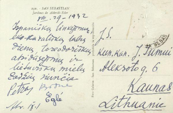 San Sebastianas (San Sebastian). 1932 m., Ispanija.