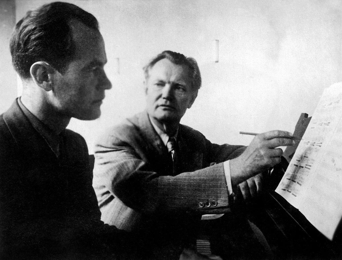 Julius Juzeliūnas Juozo Gruodžio kūrybos pamokoje, 1947-ųjų birželis.