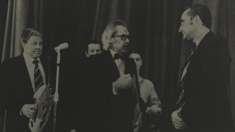 V. Žalakevičiaus kūrybos vakaras Meno darbuotojų rūmuose. 1985 m.