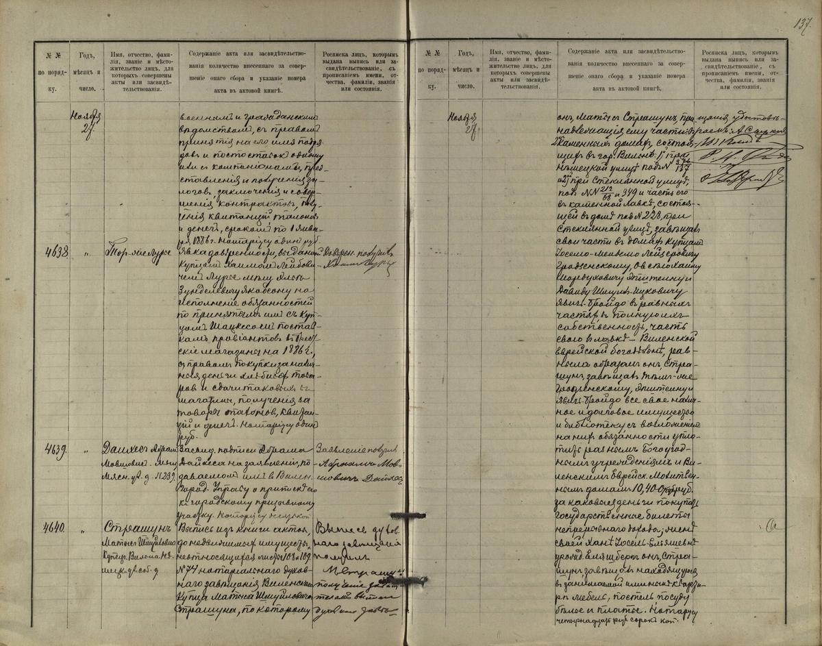 Mato Strašuno galutinio testamento fragmentas, tvirtinantis jo asmeninės bibliotekos perdavimą bendruomenei per įgaliotinius.  <br /> Lietuvos valstybės istorijos archyvas.