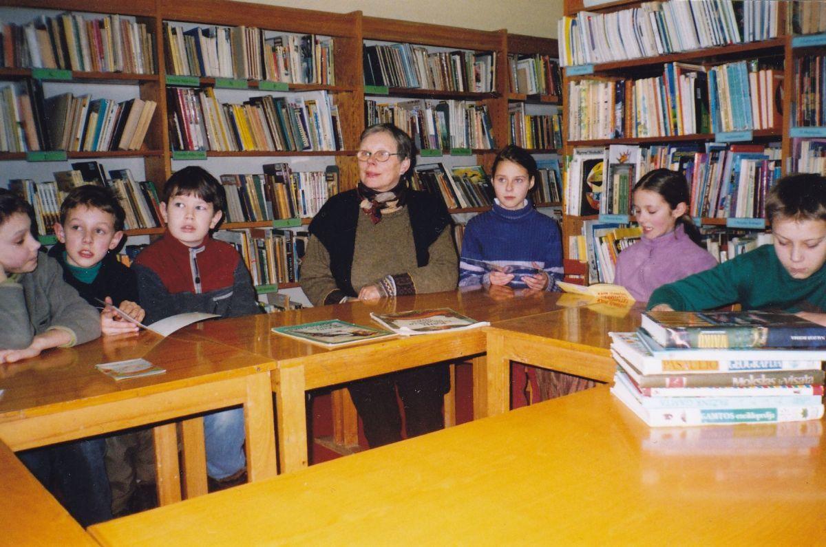 Vaikų literatūros centre, apie 2003-2004 m.