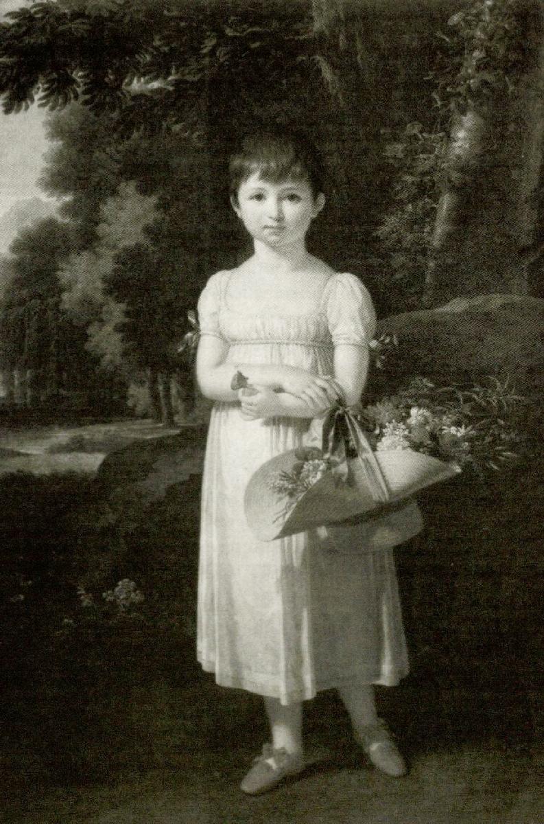 Amelija Oginskytė (1803–1858). 1808 m. Dail. F. K. Fabras  Originalas saugomas Nacionaliniame M. K. Čiurlionio dailės muziejuje