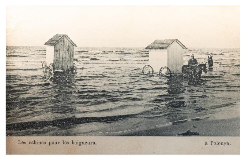 Maudymosi kabinos Palangoje, maždaug XX a. pr.