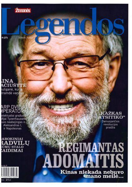 Adomaitis R. Kinas niekada nebuvo mano meilė... : [G. Liandzbergienės parengtas interviu su R. Adomaičiu] // Žmonės. Legendos. 2016, nr. 4, p. 16–32.