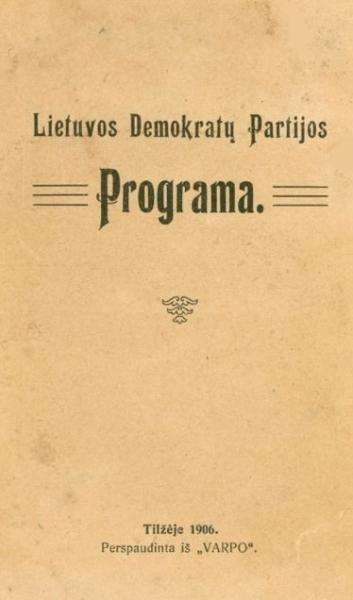 Lietuvos demokratų partijos programa.