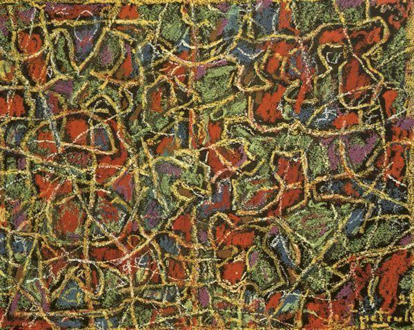 Šventė. 2000. Popierius, pastelė