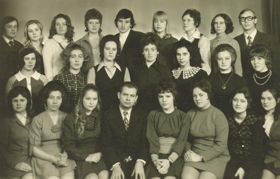 Pirmoji lituanistų pedagogų laida su doc. A. Rasimavičiumi. 1975 m.