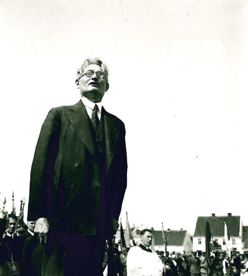 K. Griniaus kalba paminklo V. Kudirkai atidarymo metu. 1934 m.