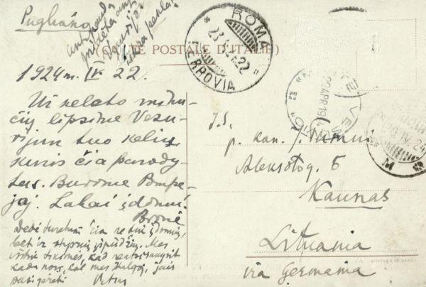 Pugliano (Pugliano). 1924 m., Italija.
