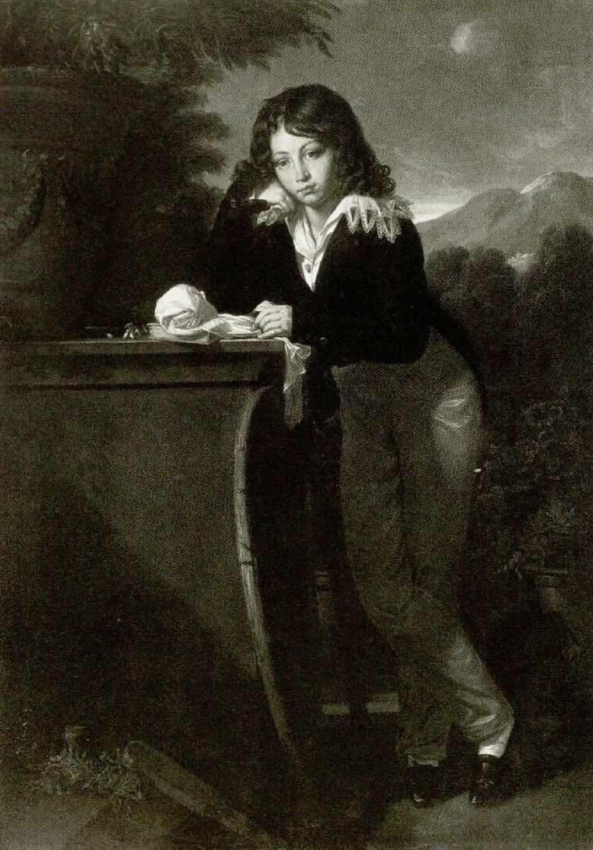 """Irenėjus Oginskis (1808–1863). 1820 m. Dail. F.  K.  Fabras (1766–1837). Originalas saugomas Žemaičių muziejuje """"Alka"""""""