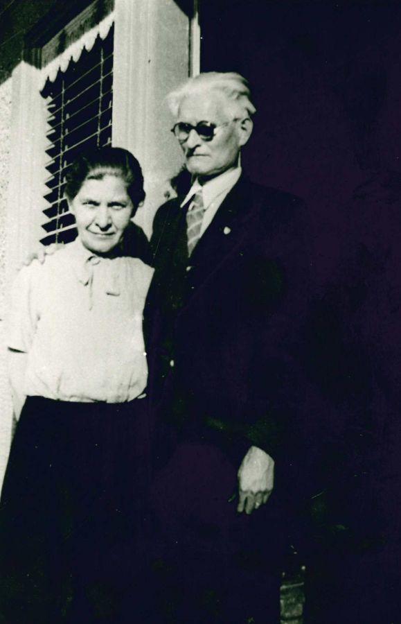 K. Grinius su žmona Kristina. 1945 m.