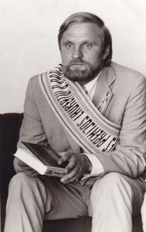 Žemaitės literatūrinės premijos laureatas B. Radzevičius (viena paskutiniųjų rašytojo nuotraukų). 1980 m.