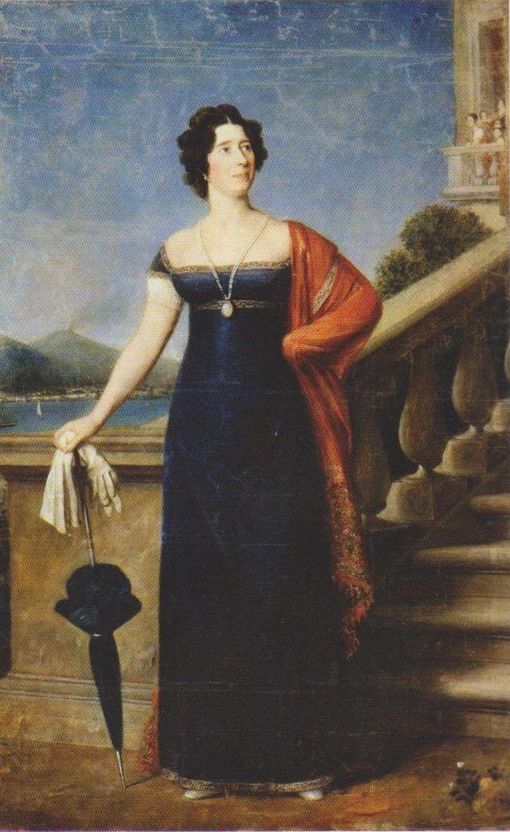 Marija de Neri Oginskienė (antroji kunigaikščio žmona). Dail. D. Pelegrinis. Originalas saugomas Nacionaliniame M. K. Čiurlionio dailės muziejuje
