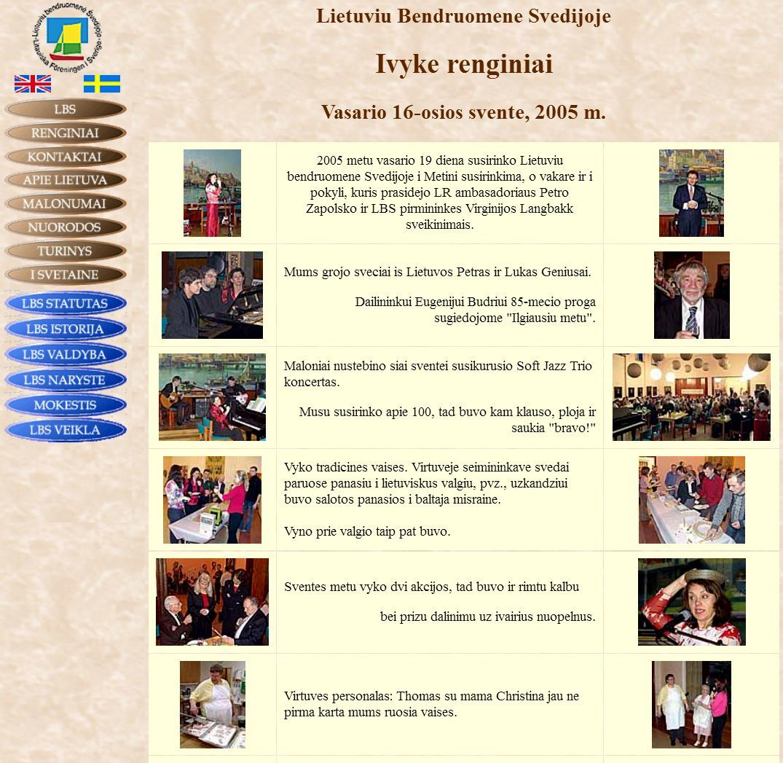 Pirmoji Lietuvių bendruomenės Švedijoje interneto svetainė, veikusi 2000–2008 m.