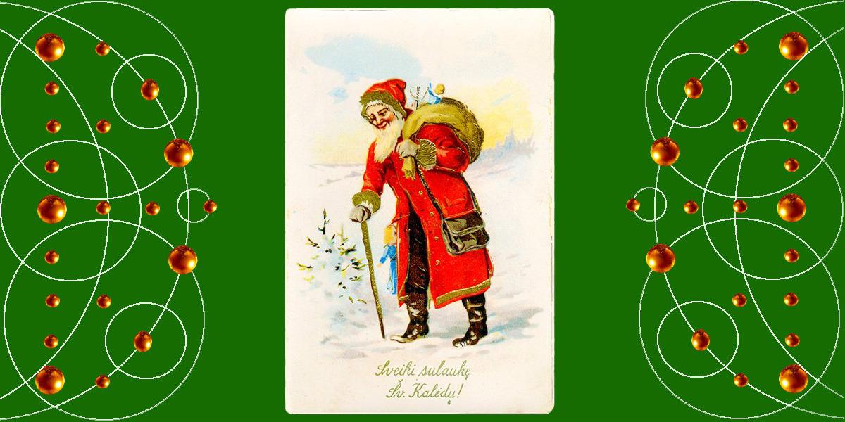 Sveiki sulaukę Šv. Kalėdų! 1925 m. Atvirukas