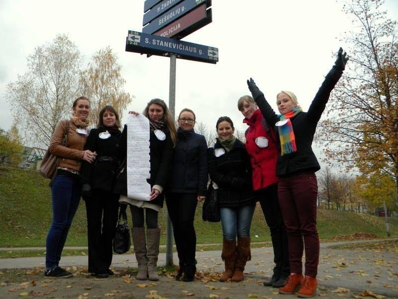 LEU LF SMD keliauja po literatūrinį Vilnių. 2013 m.