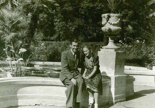 Su vyru Vaclovu Sočyje. 1951