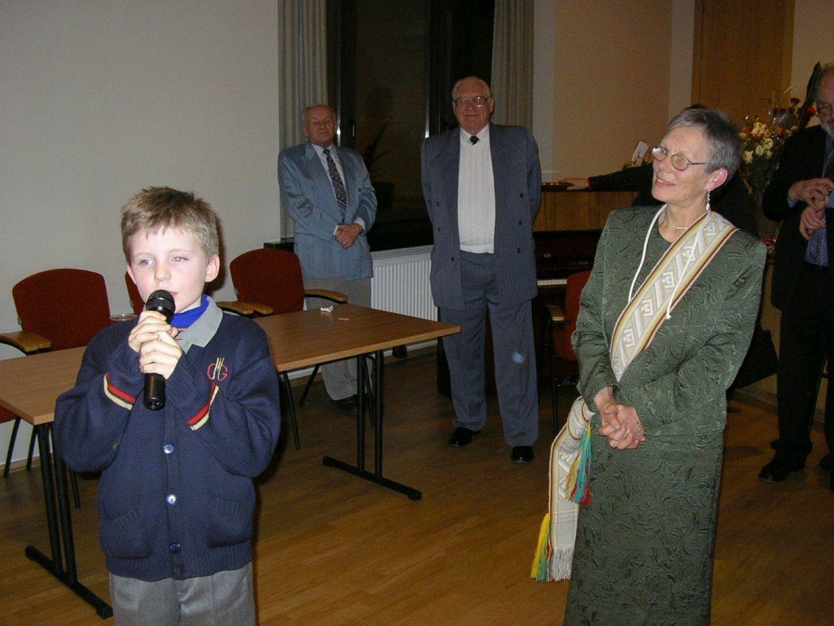 Anūkas Faustas ir Alma Karosaitė. 2005