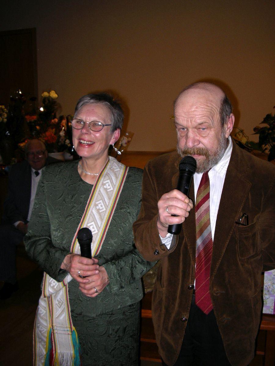 Alma Karosaitė ir Rimantas Šavelis. 2005