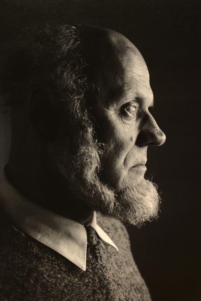 Nacionalinės kultūros ir meno premijos laureatas, rašytojas Juozas Aputis. 1998 m.<br />