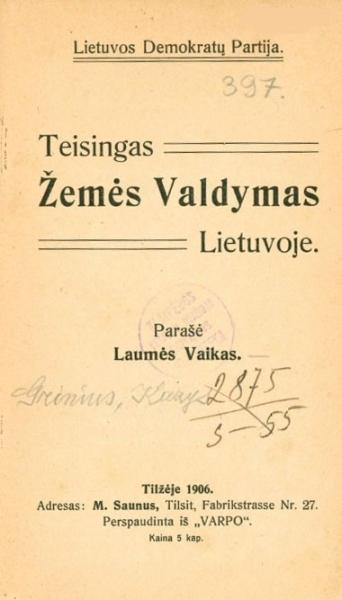 Teisingas žemės valdymas Lietuvoje.