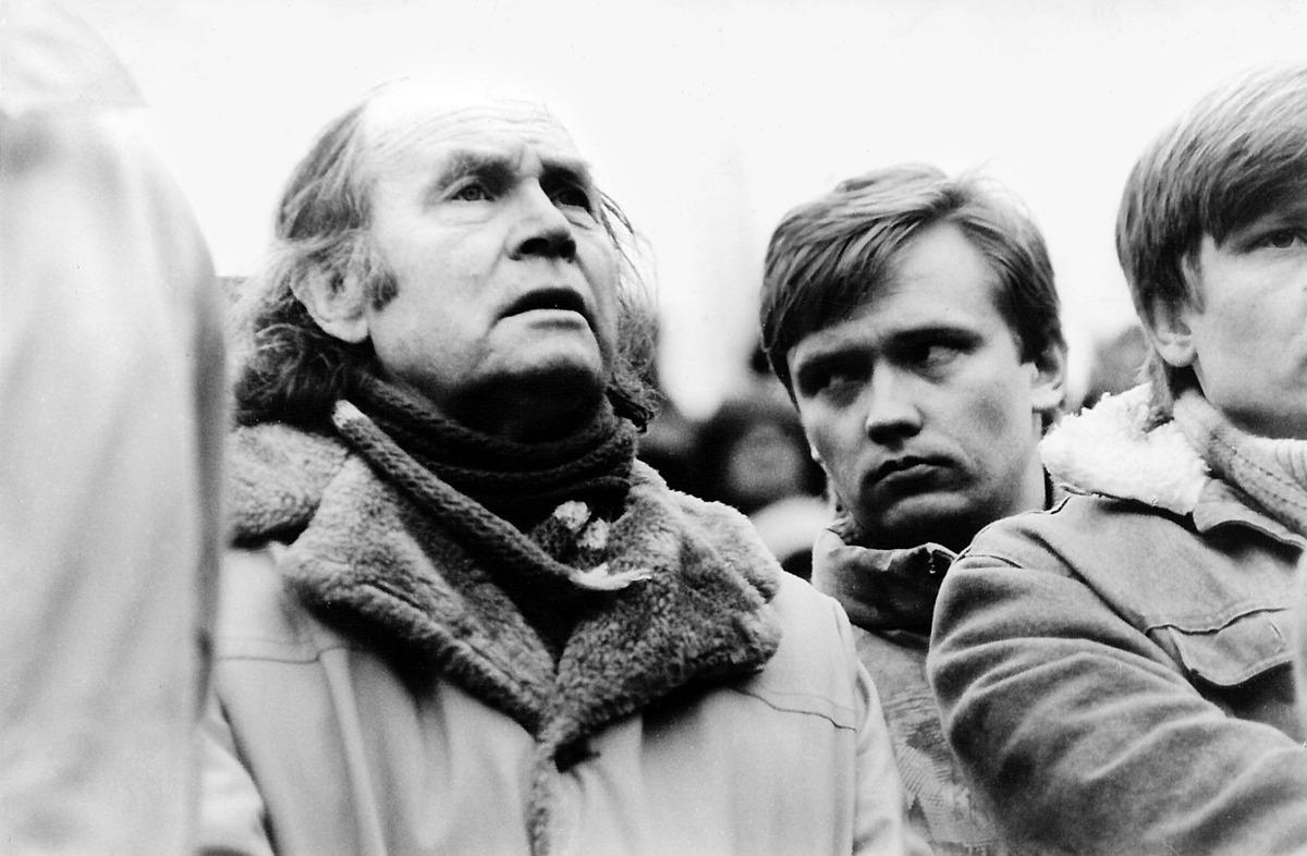 Sąjūdžio pirmeiviai: Julius Juzeliūnas ir Zigmas Vaišvila, 1988 m.