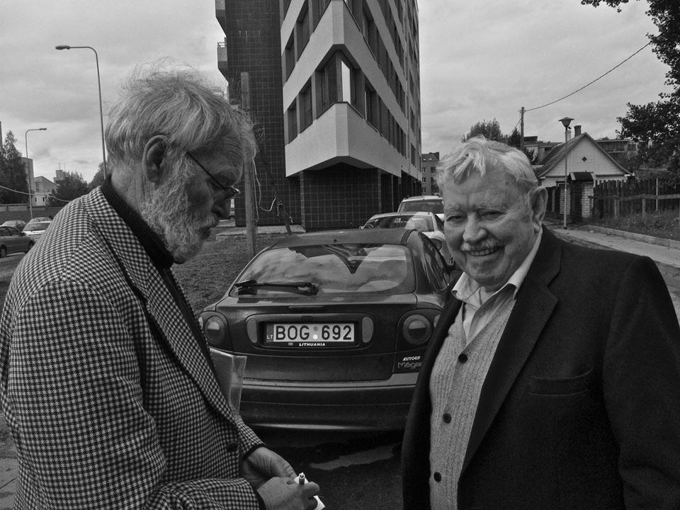 Aktoriai R. Adomaitis ir D. Banionis. 2012 m., Vilnius.