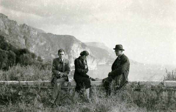 Petras Klimas su Antanu ir Janina Liutkais.