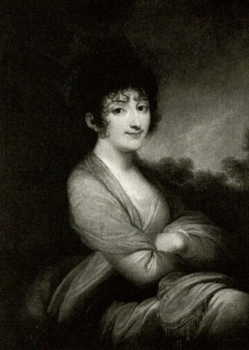 Kunigaikščio Mykolo Kleopo Oginskio pirmoji žmona Izabėlė Lasocka Oginskienė (1764–1852).<br /> Dail. J. Grassi. <br /> Originalas saugomas Lenkijos nacionaliniame dailės muziejuje Krokuvoje