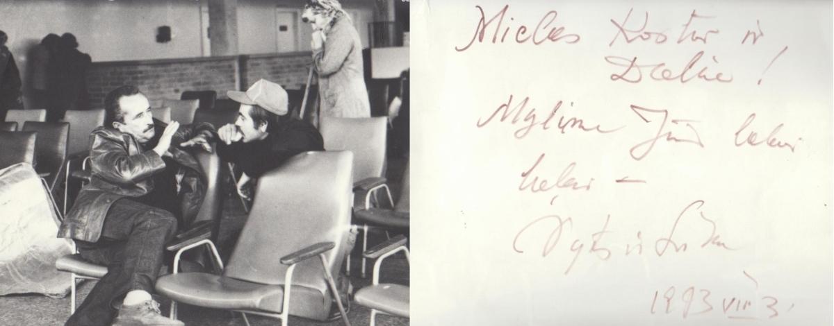 Vytauto ir Likos Žalakevičių nuotrauka-laiškas Kostui ir Daliai Smoriginams. 1993 m. liepos 3 d.
