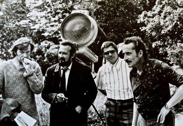 """J. Budraitis """"Sadūto Tūto"""" filmavimo metu. 1973 m."""