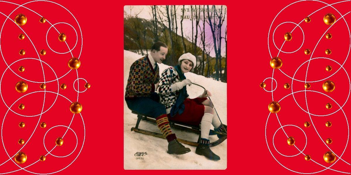 Sveiki sulaukę Naujųjų Metų! Apie 1932 m. Atvirukas