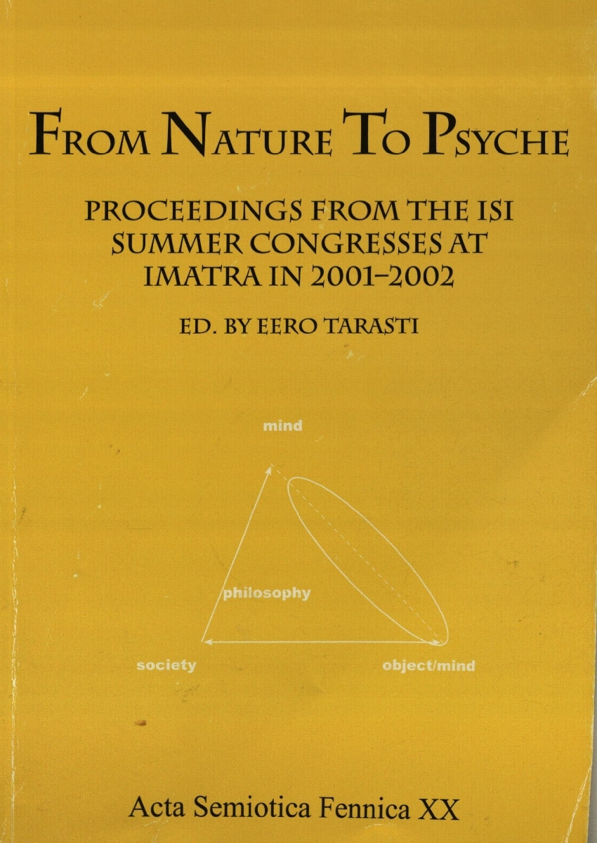 From Nature to psyche. Proceedings from the isi summer congresses at imatra in 2001–2002. Helsinki, 2004.