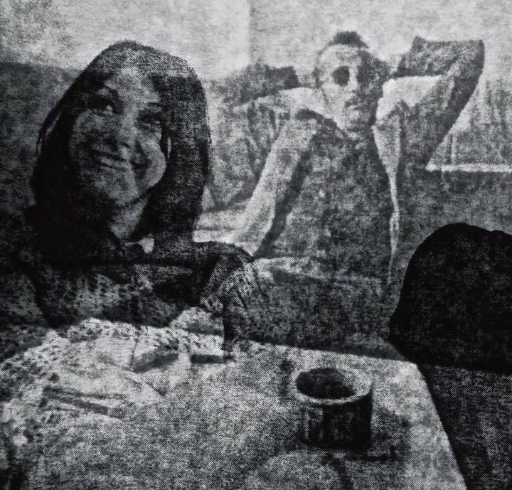 J. Budraičio meninė fotografija, kurioje įamžinti V. Žalakevičius su I. Mirošničenko. Apie 1972 m.