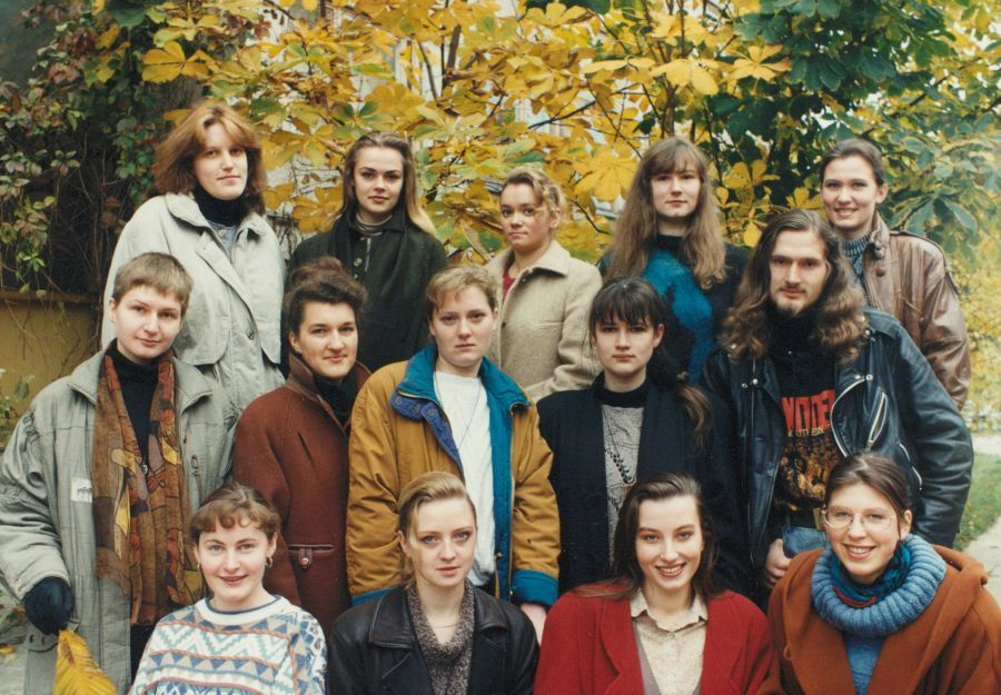 Lituanistikos fakulteto III kurso I grupės studentai. 1996 m.