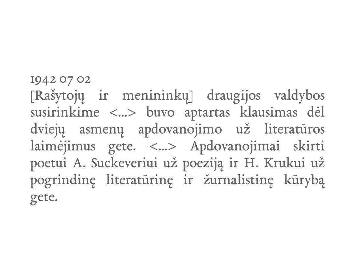 Iš Hermano Kruko Vilniaus gete rašyto dienoraščio