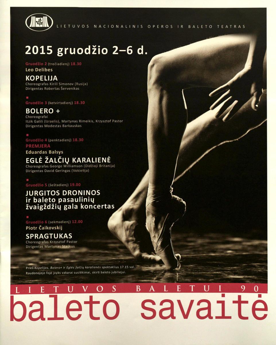 Lietuvos baletui 90 : baleto savaitė