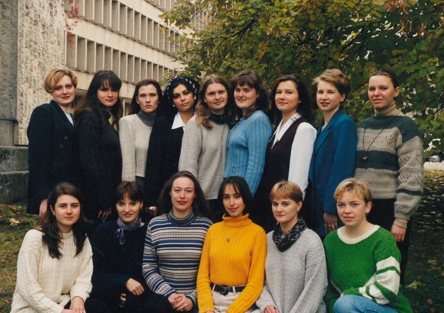 Lituanistikos fakulteto magistrantūros I kurso studentai. 1998 m.