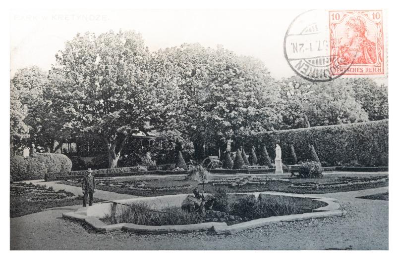 Kretingos dvaro parkas, apie 1907–1910 m.