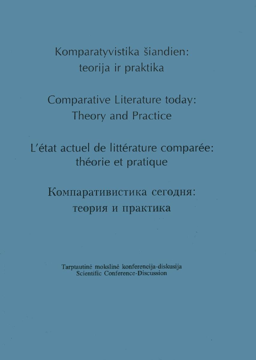 Komparatyvistika šiandien : teorija ir praktika (tarptautinė mokslinė konferencija-diskusija) (2000; Vilnius)<br />