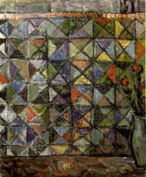 Gėlės kilimo fone. 1967. Drobė, aliejus