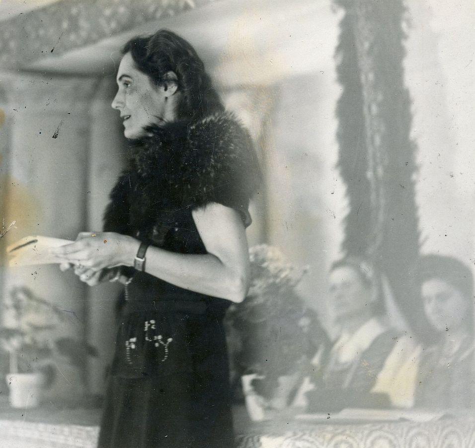 Pirmojo lietuvių moterų rašytojų vakaro tremtyje Rebdorfe, Vokietijoje, dalyvė. J. Gaidžio nuotr.