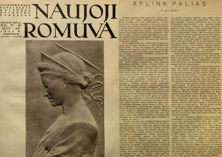 Klimas P. Aplink Palias // Naujoji Romuva. 1935, nr. 37–38, p. 663–664.