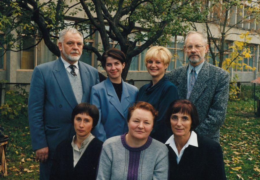 Tuometės Lietuvių literatūros katedros kolektyvas. 1998 m.