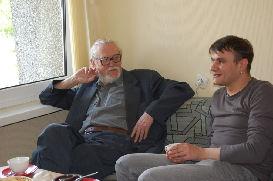 Poetų M. Martinaičio ir R. Stankevičiaus viešnagė LEU Lituanistikos fakultete. 2010 m.
