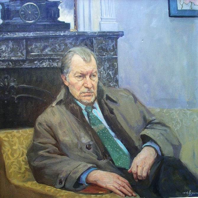 Juozas Budraitis. Drobė, aliejus. 2011 m. Dailininkas D. Jevtušenko.