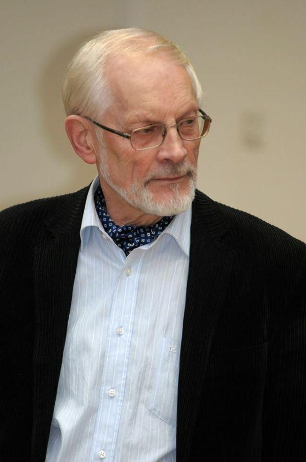 Vytautas Martinkus. Savo kūrybos vakaro LEU metu. 2014 m.