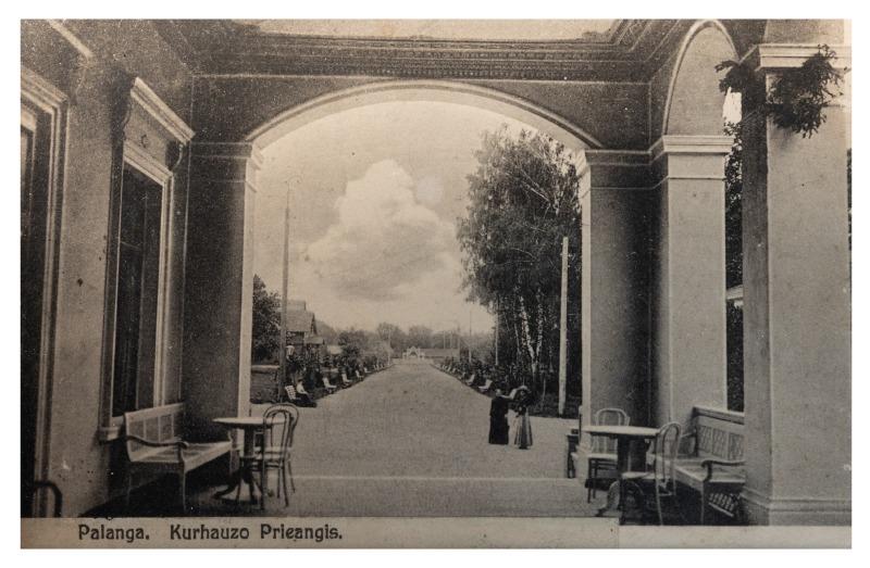 Palanga, Kurhauzo prieangis, apie 1902 m.